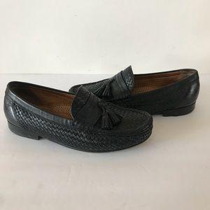 Allen Edmonds Rimini Black Leather Loafers 7.5 D